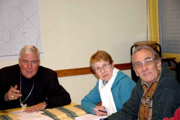 Mgr avec Françoise et Paul