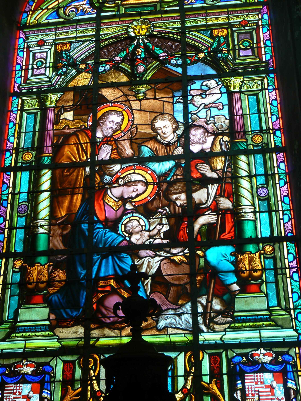 Vitrail de l'église Saint Wasnon