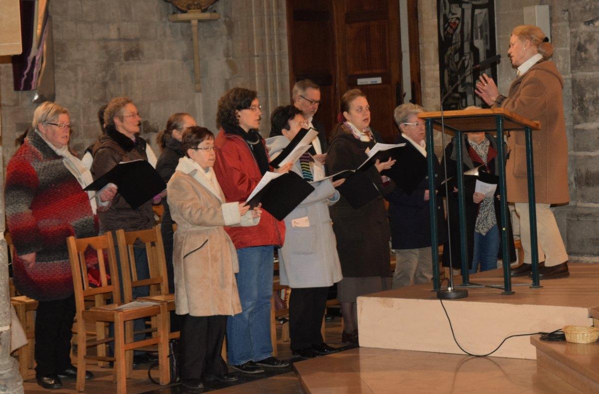 la chorale de la basilique Notre-Dame a assuré l'animation au niveau des chants