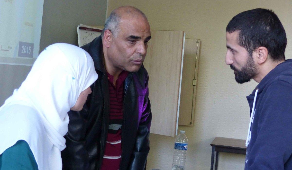 Jehad et le président de la mosquée de Raismes
