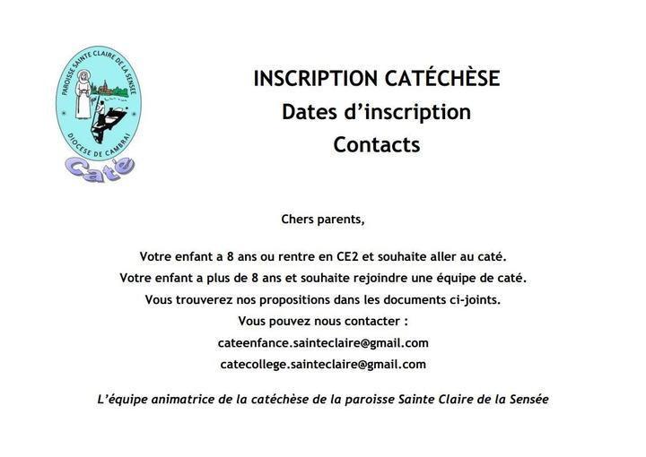 page accueil du site catechese