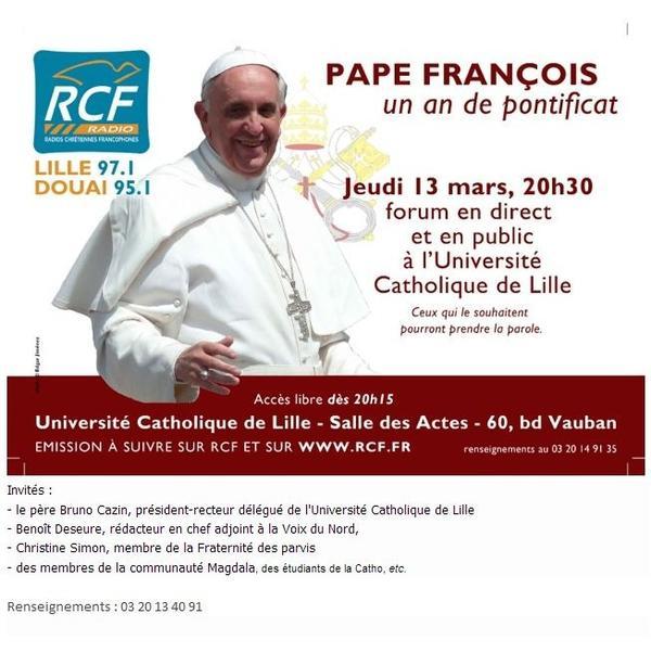 PAPE FRANCOIS 1 AN DE PONTIFICAT