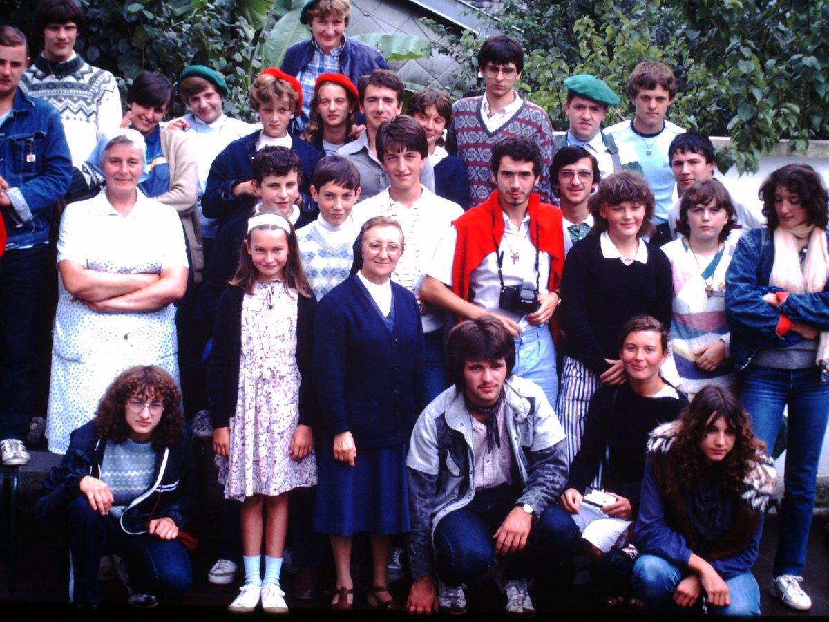 Jeunes hospitaliers de Sin le Noble - Lourdes août 1983