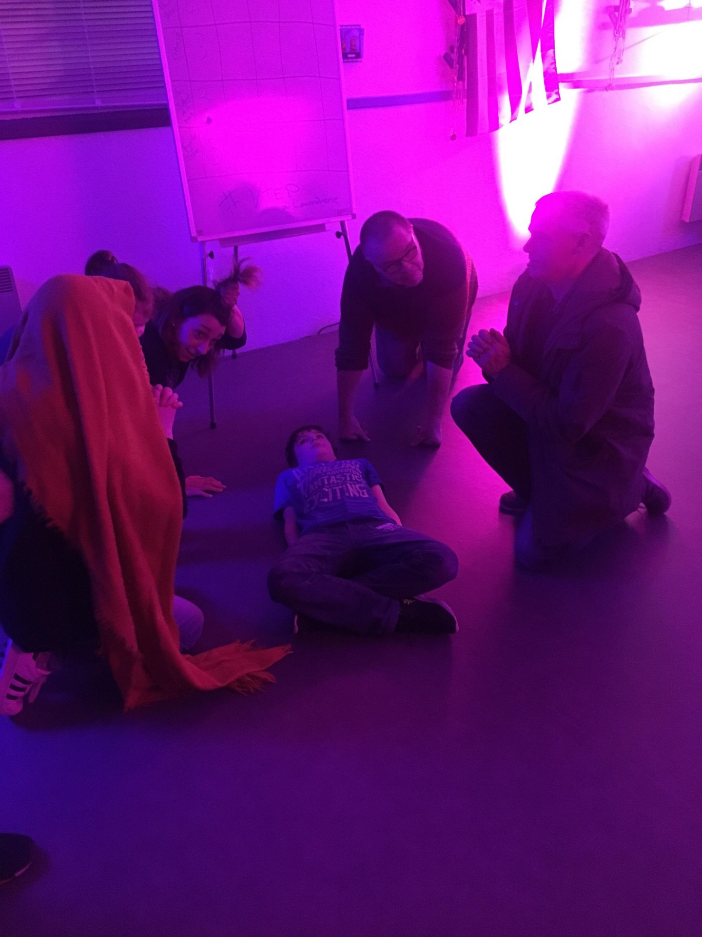 Scene biblique mimee - La naissance de Jesus