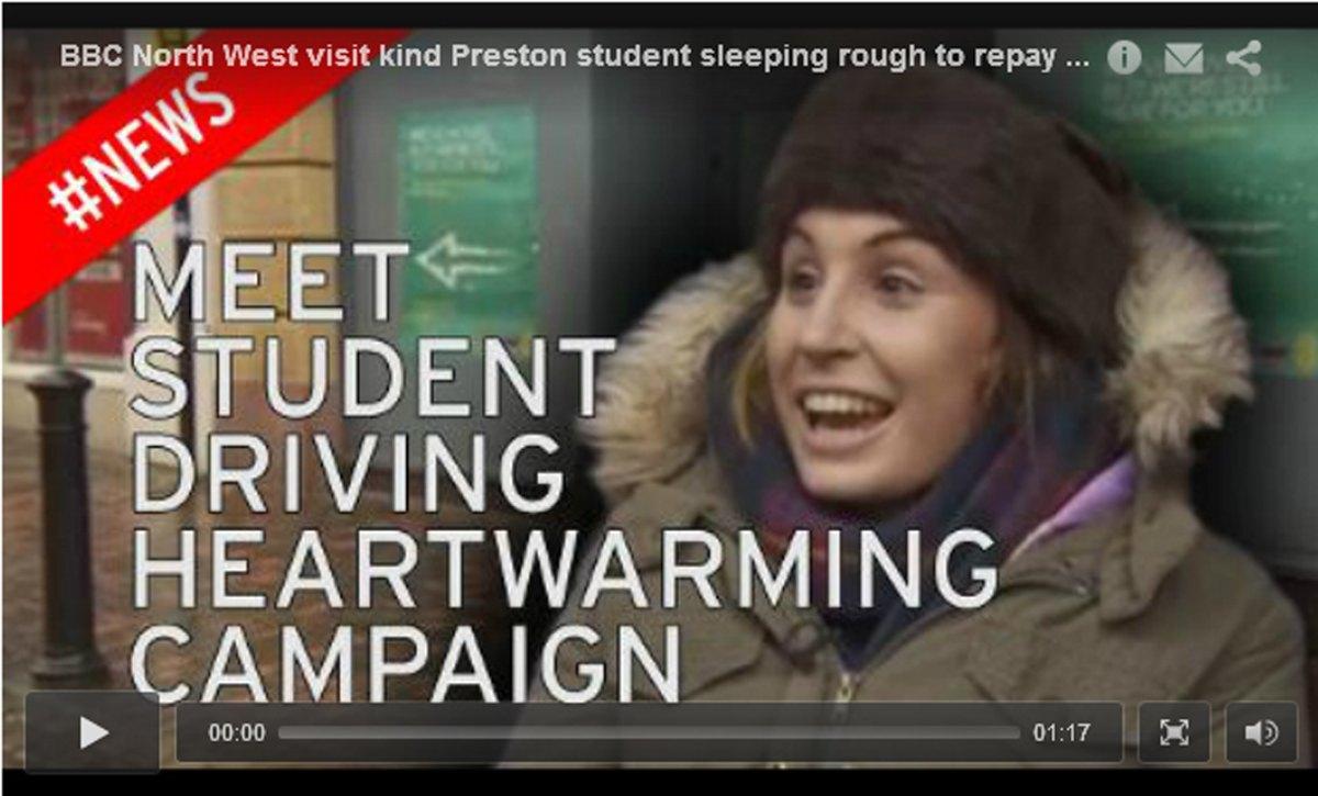 """Traduction : """"Rencontrez l'étudiante qui mène une campagne qui vous réchauffe le cœur !"""""""