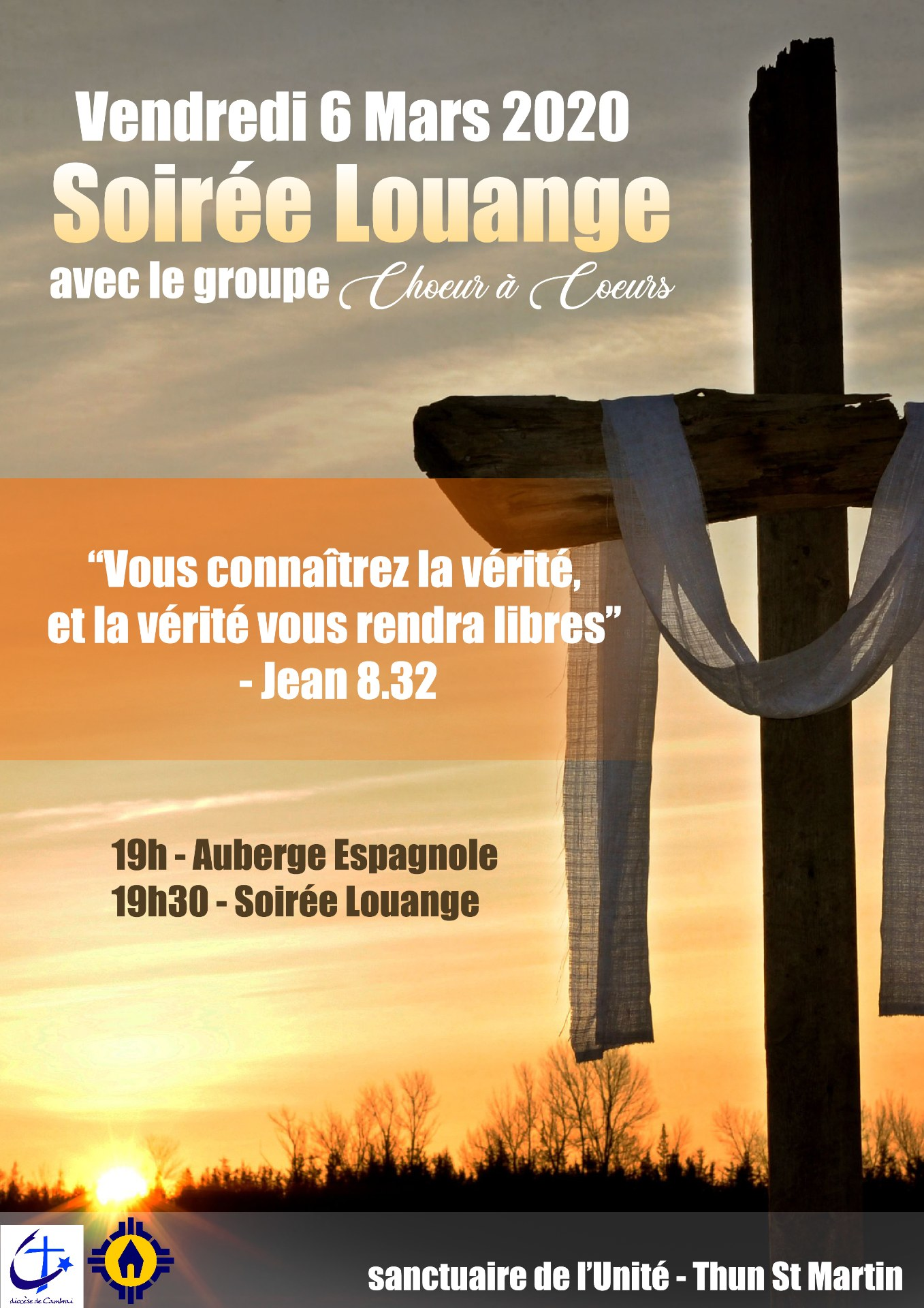 soiree louange groupe Choeur a Coeur 06-03-2020