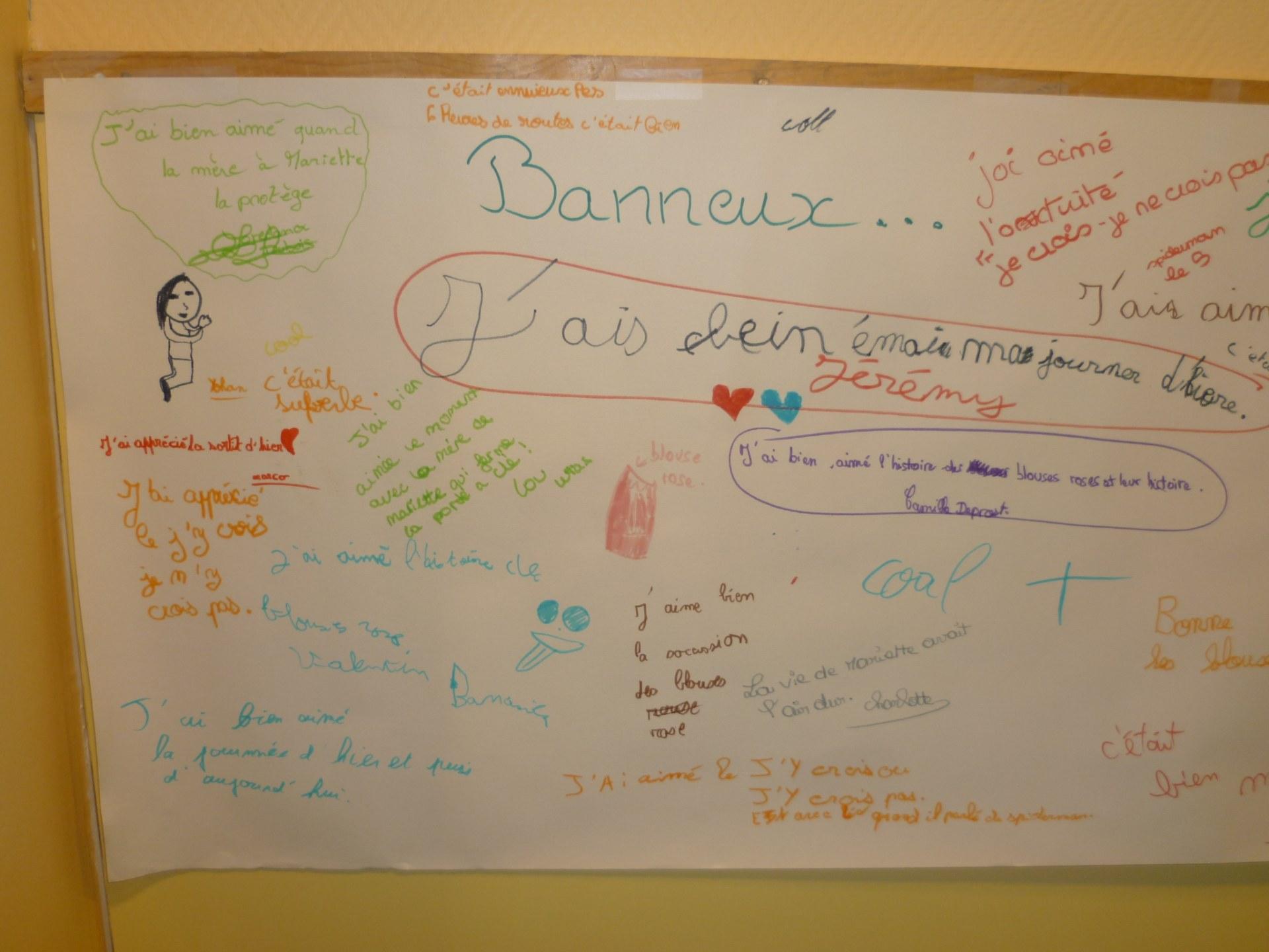 Sur le mur d'expression .... Banneux ..