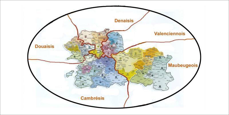 Notre diocèse divisé en Territoires d'Animation (du Secours Catholique).