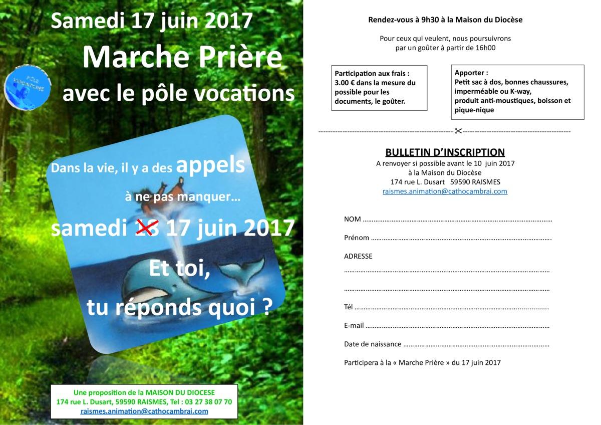 tract Marche Prière juin 2017