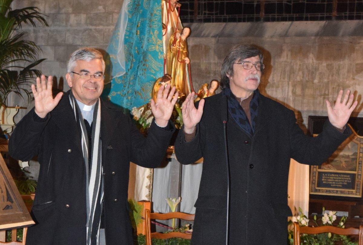 le prêtre Jean-Marie Launay et le pasteur Frédéric Verspeeten