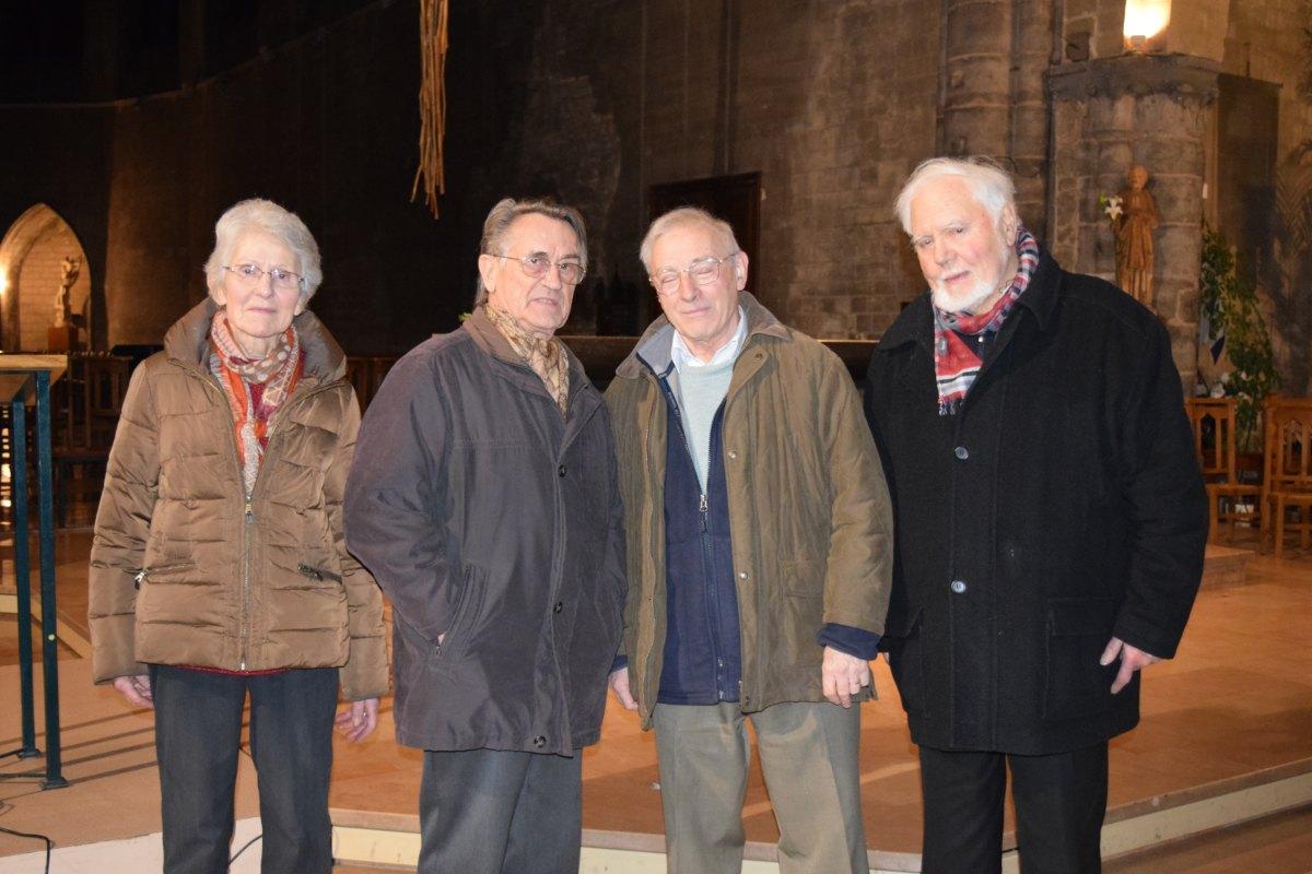 les organisateurs : Yves et Marie-Claire Lasbleis, Fabien Berlémont et Philippe Vernet