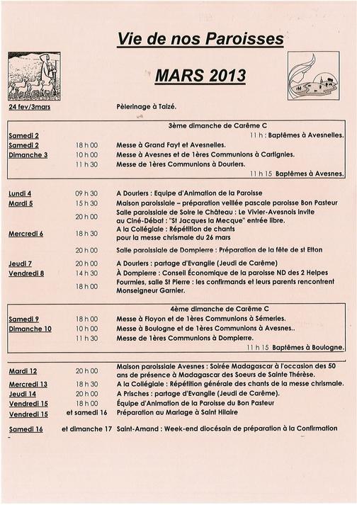 vie paroisses mars 2013r
