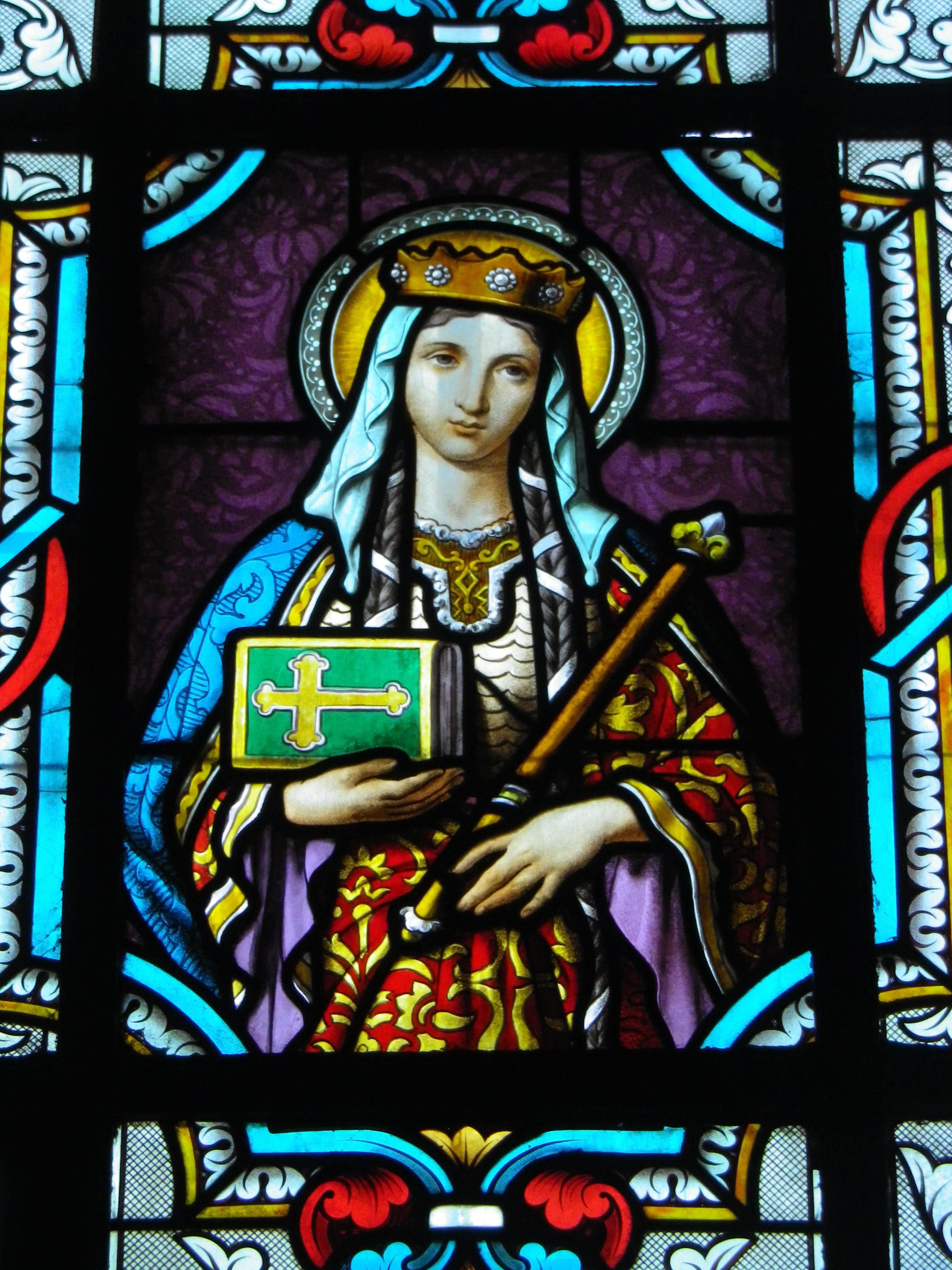 Sainte Emme, fille de Sainte Berthe, dont la biographie et le récit du retour de son corps à Blangy a été évoqué lors de la balade.