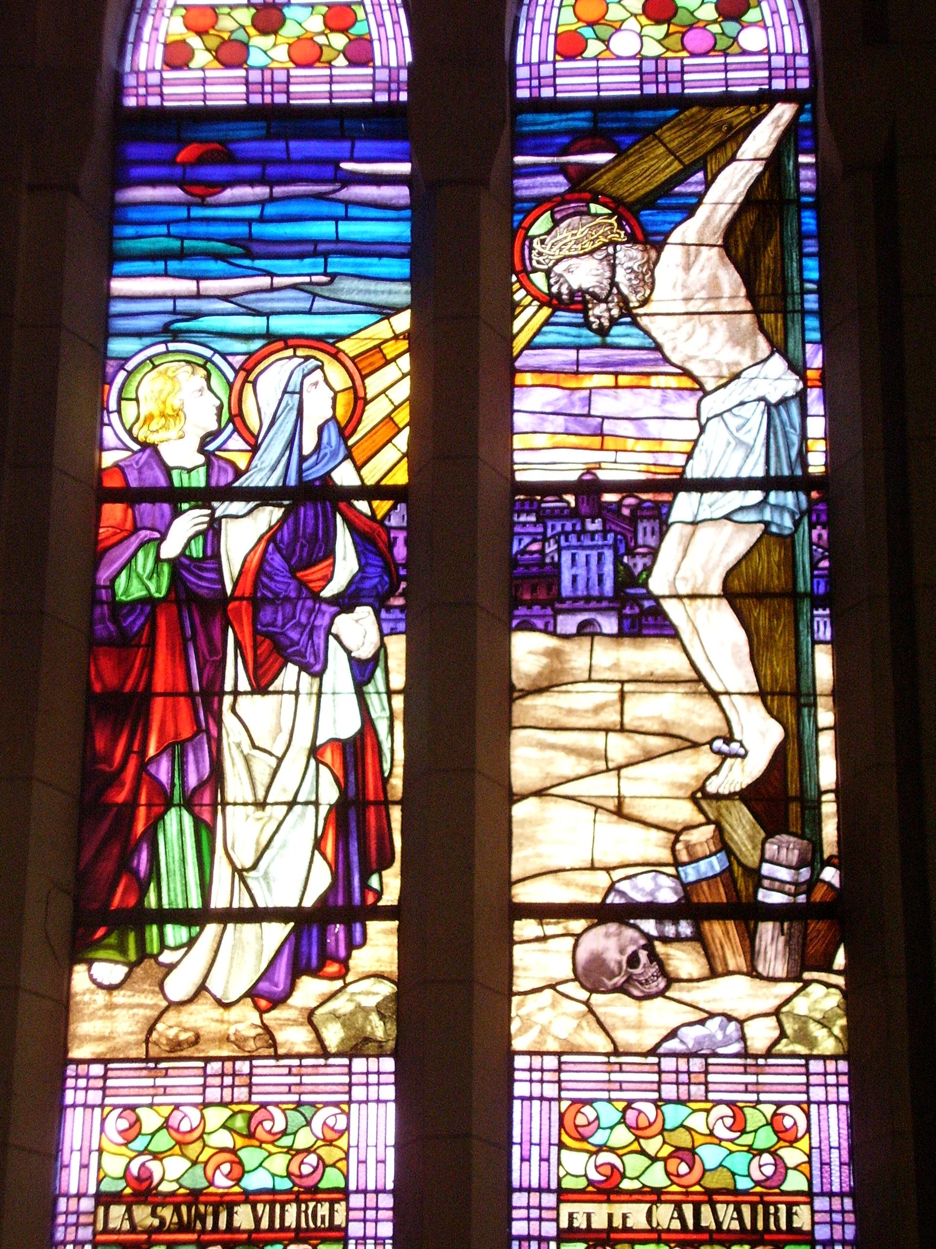 vitrail la mort de Jésus