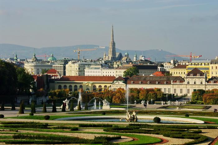 A-Wien-Belvedere-Blick-Wien